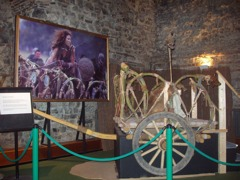 Rekonstruierter Streitwagen der Icener-Königin Boudicca im Museum Colchester